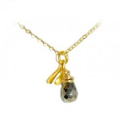 Halskette Glücksknöchelchen vergoldet Pyrit Ting