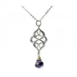 Halskette Oriental Wassersaphir Silber Ting