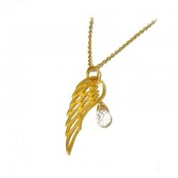 Halskette 925-er Sterling Silber vergoldet Flügel Ting
