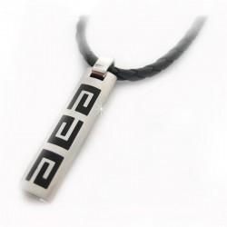 Halsband Leder griechisch Silber DFBIJOUX