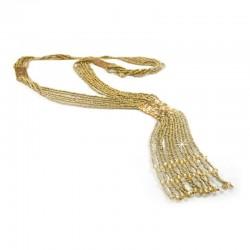 Halskette Wachsperlen Gold DreamFactorJ