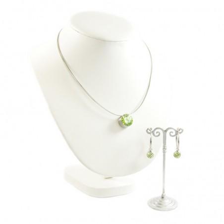 Schmuckset Halskette Ohrringe Swarovski Lime MelanO