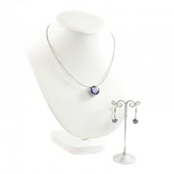 Set Halskette Ohrringen Violett MelanO