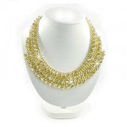 Halskette metallisierten Steinen Gold Sweet Deluxe