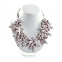 Halskette Collier Blumen Lila Sweet Deluxe