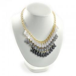 Halskette Gold Grau Sweet Deluxe