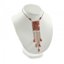 Halskette Glitzer Rot Accessoires and more