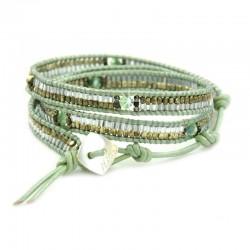 Wickelarmband Armband Wachsperlen Grün Nakamol