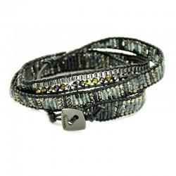 Wickelarmband Armband Leder Silber Gold Schwarz Nakamol