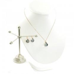 Schmuckset 925 Silber Roségold Grau Eliza Concept
