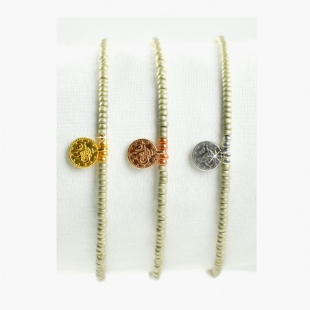 Armband Münze 925-er Silber Gelbgold Rosé vergoldet Mint15