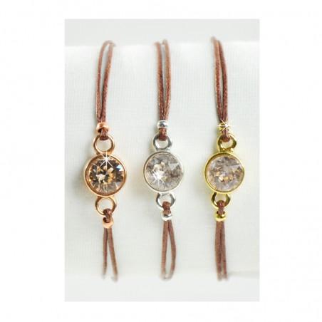 Armband Braun Silber Gold Rosé Mint15