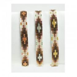 Armband Miyuki Perlen Forest Rotgold Silber Mint15