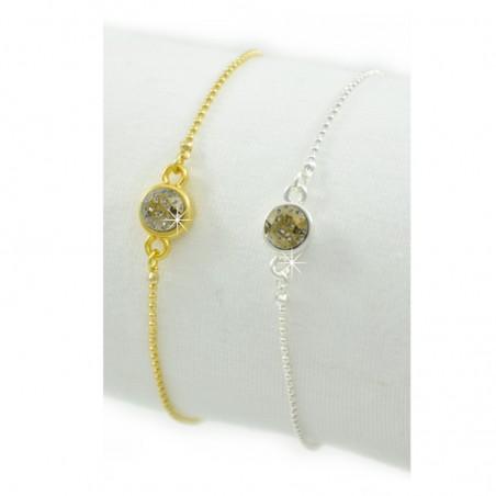 Armband Dunkelgrün Gold Silber Mint15
