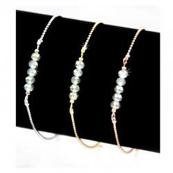 Armband Minzgrün Glasperlen Gold Silber Rosé Mint15