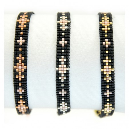 Armband Miyuki Perlen Gold Silber Rosé Mint15