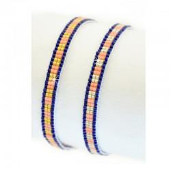 Armband Miyuki Perlen Block Party Mint15