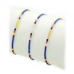 Armband Royal Blau Perlen Gold Silber Rosé Mint15