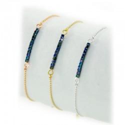 Armband Blau Perlen Gold Silber Rosé Mint15