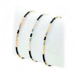 Armband Miyuki Schwarze Perlen Gold Silber Rosé Mint15
