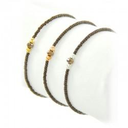 Armband Diamond Braun Facettenperlen Gold Silber Rosé Mint15