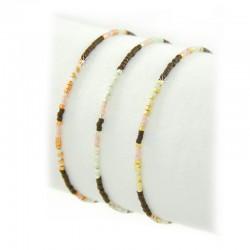 Armband Miyuki Indian Braun Perlen Gold Silber Rosé Mint15
