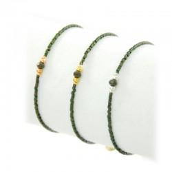 Armband Grün Metallperlen Gold Silber Rosé Mint15