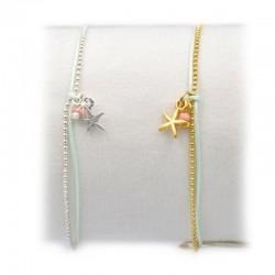 Armband Seestern Perlen Gold Silber Mint15