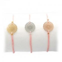 Armband Blumen in Gold Silber und Rotgold Mint15