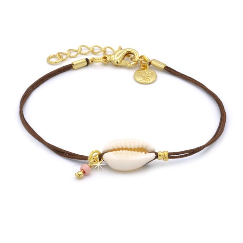 Armband Muschel Gold Mint15