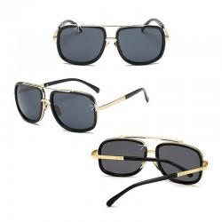 Sonnenbrille Retro Schwarz DFBIJOUX