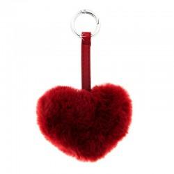 Schlüsselanhänger Plüschherz Silber Rot Sweet Deluxe