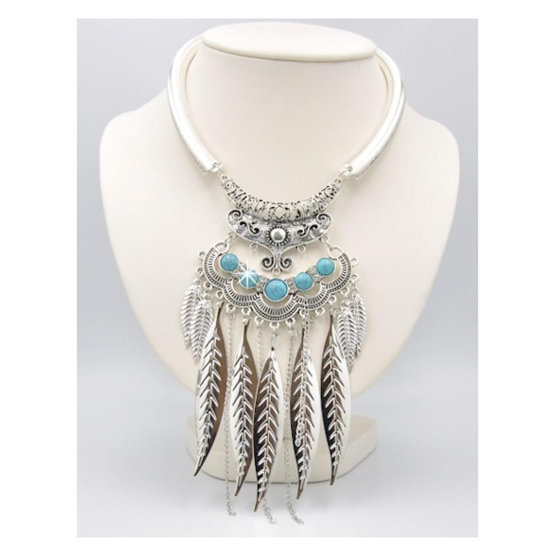 Collier Halskette Silber Türkis DreamFactorJ