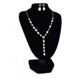 Schmuckset Perlen Markasit Perlen Silber DFBIJOUX