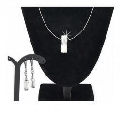Schmuckset Halskette Ohrringe Kristall DFBIJOUX