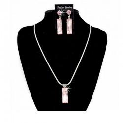 Schmuckset Halskette Ohrringe Rosa DreamFactorJ