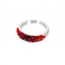 Roter Ring Swarovski Components Phantasya