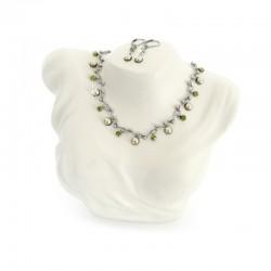 Set Halskette Ohrringe Olivine Aracena Perlenland