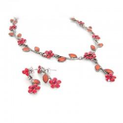 Schmuckset Halskette Ohrringe Rot DreamFactorJ