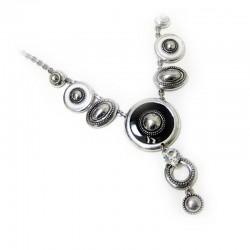 Halskette Schwarz Silber Ehrsam