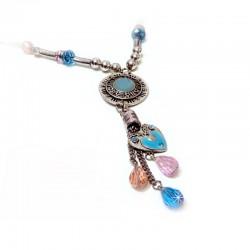 Halskette Türkis Rosa Blau Ehrsam