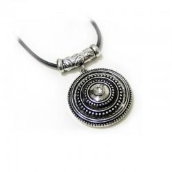 Halsband Kautschuck Silber Schwarz Ehrsam